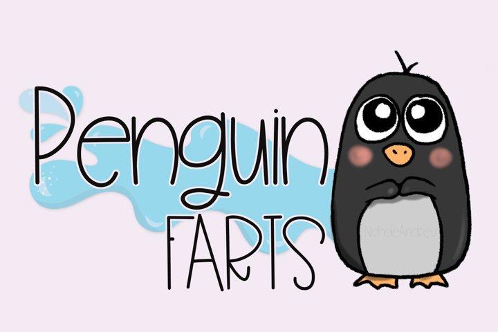 Penguin Farts - A Fun Handwritten Font