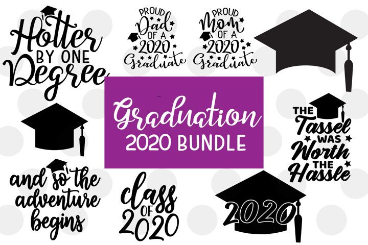 Graduation 2020 SVG Bundle - 9 Graduation SVGs