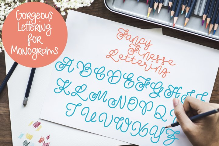 Fancy Finesse Lettering - Perfect for Monograms!