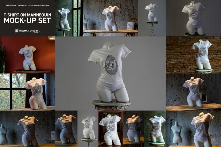 T-Shirt On Mannequin Mock-Up Set