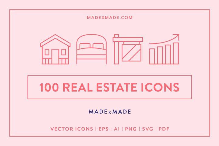 Line Icons - Real Estate