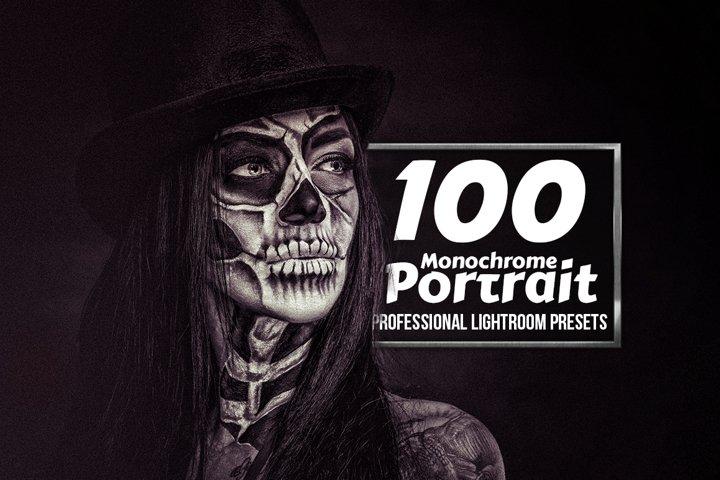 Monochrome Portrait - 100 Lightroom Presets