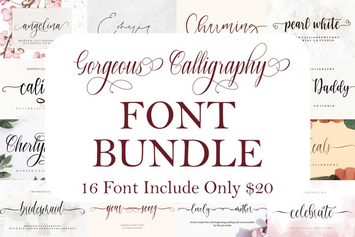 Gorgeous Calligraphy Font Bundle |Limited Time Offer!!!