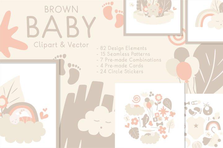 Brown Baby Clipart & Vector