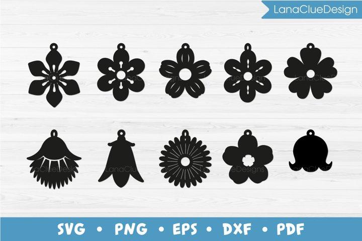 10 Wildflower Earrings SVG