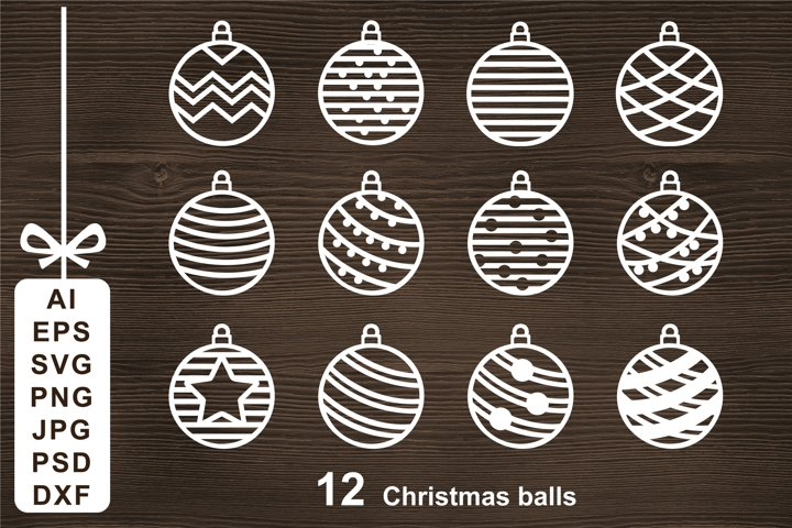 Christmas Ball SVG Cut file for Crafters