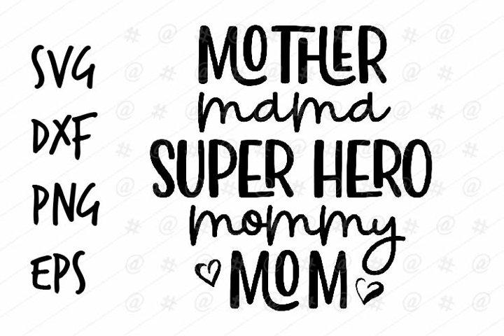 Mother Mama Superhero Mommy Mom Svg Design 541022 Printables Design Bundles