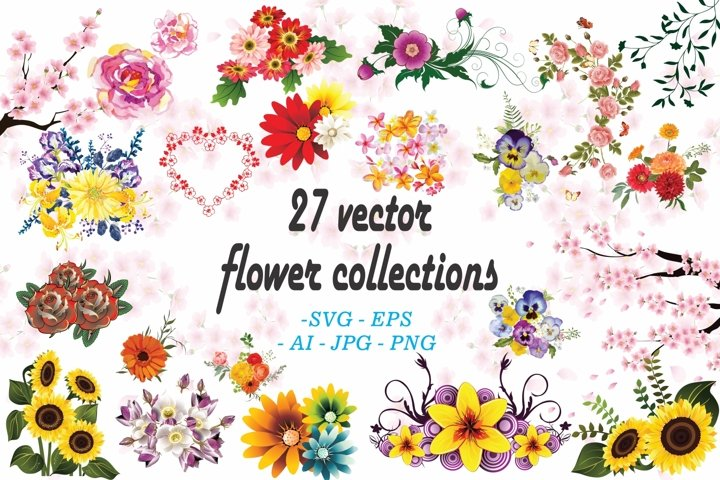 27 Vector Flower Collection