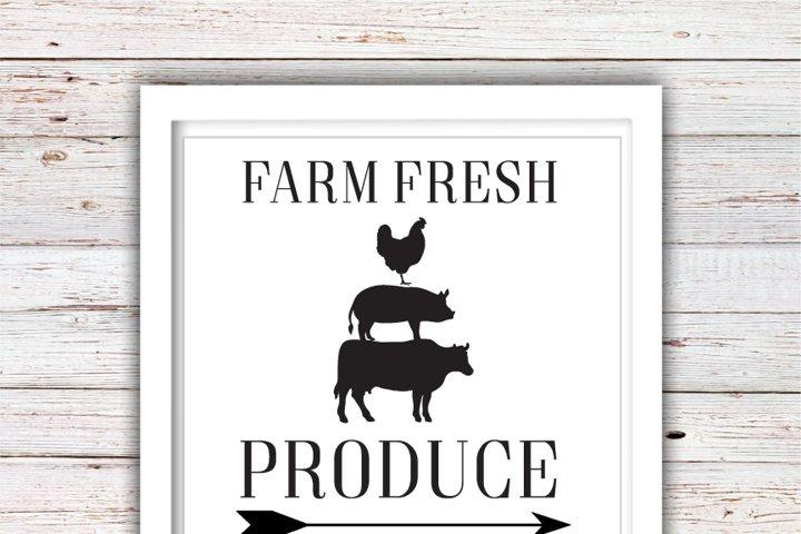 Farm Fresh Produce SVG | Farm Fresh SVG | Farmhouse | High Quality Svg Eps Dxf Png Files | Cricut Files Silhouette Cameo | Instant Download