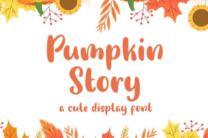 Pumpkin Story - Cute Display Font