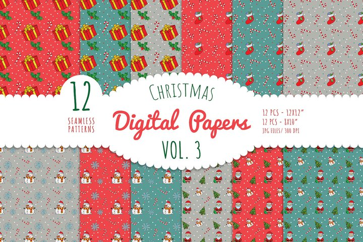 Christmas Digital Paper - Vol. 3