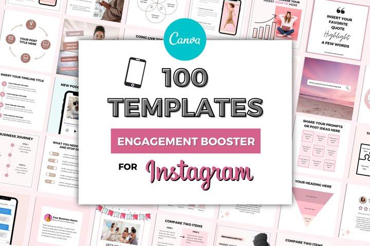 100 Instagram Engagement Booster Templates | Viral Posts