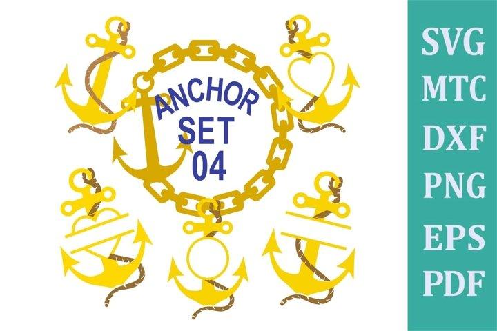 Anchor Set 04 Cruise Bundle Sublimation SVG Cut File