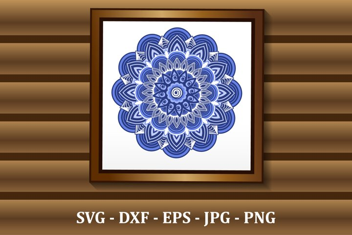 Mandala SVG files, 3D layered mandala, files for DIY craft