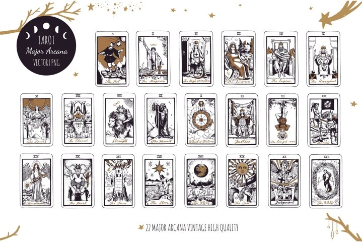 Tarot cards Major Arcana collection