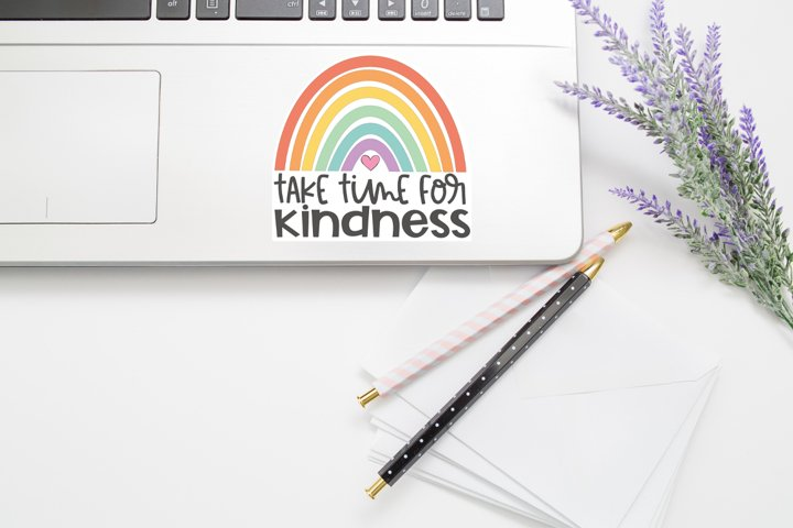 Take Time For Kindess Sticker PNG