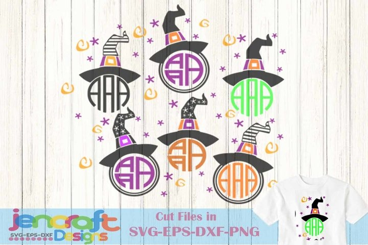 40+ Witch Monogram Legs In Cauldron – Svg, Dxf, Eps Cut File PNG