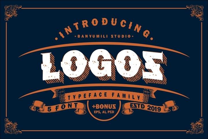 LOGOS   5 Font Logo