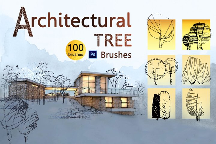Architectural Tree Photoshop Brushes