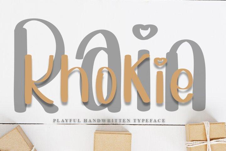 Khokie Rain - Handwritten Typeface Font