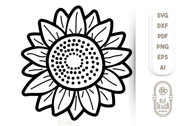 Sunflower SVG Files - Sunflower Illustration