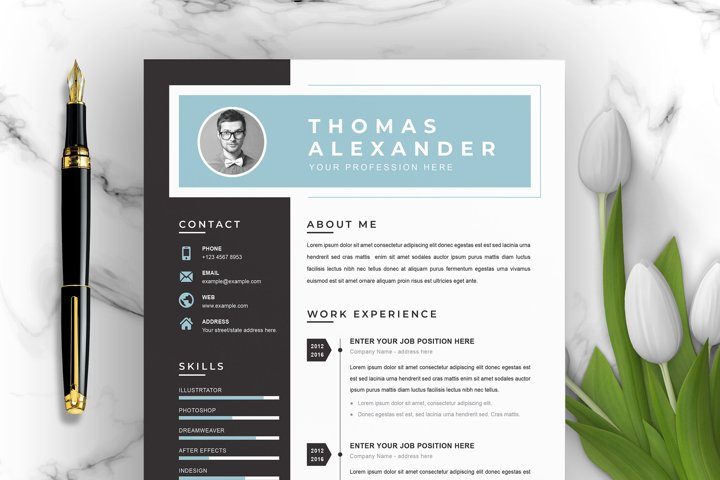 Professional Word Resume / CV Template