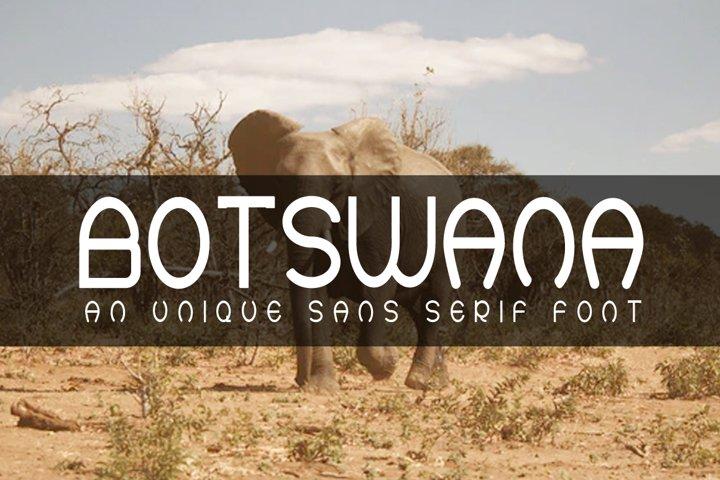 BOTSWANA An Unique Sans Serif Font