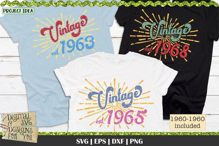 1960s Vintage Birthday | Vintage Birthday | Retro Birthday