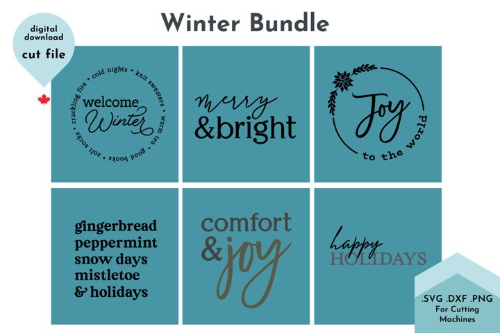 Winter SVG Bundle - Christmas svg Bundle, holiday bundle