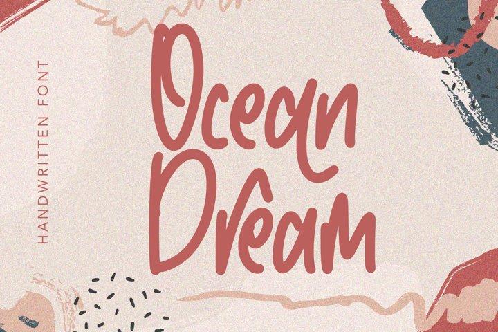 Ocean Dream - Handwritten Monoline Fonts