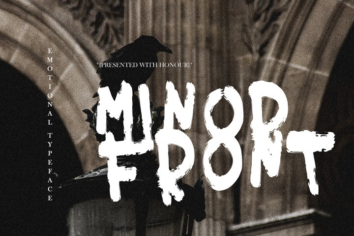 MINOR FRONT BRUSH FONT