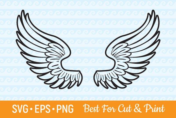 Wings SVG Angel Wings Heaven Flying Feather Wings Cut File