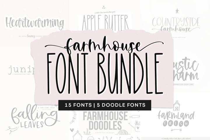 Farmhouse Font Bundle - Handwritten Fonts for Crafters!