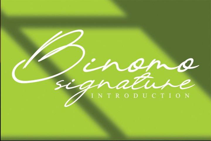 Binomo signature