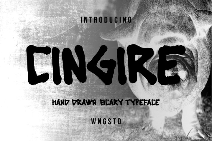 Cingire - Hand drawn scary typeface