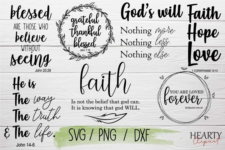 Bible verses svg bundle, inspirational quotes