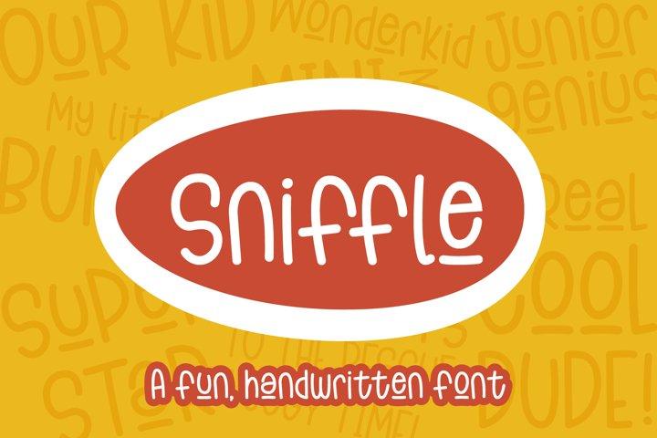 Sniffle - a playful handwritten font