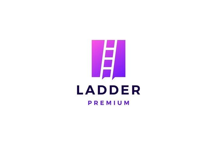 ladder logo vector icon illustration