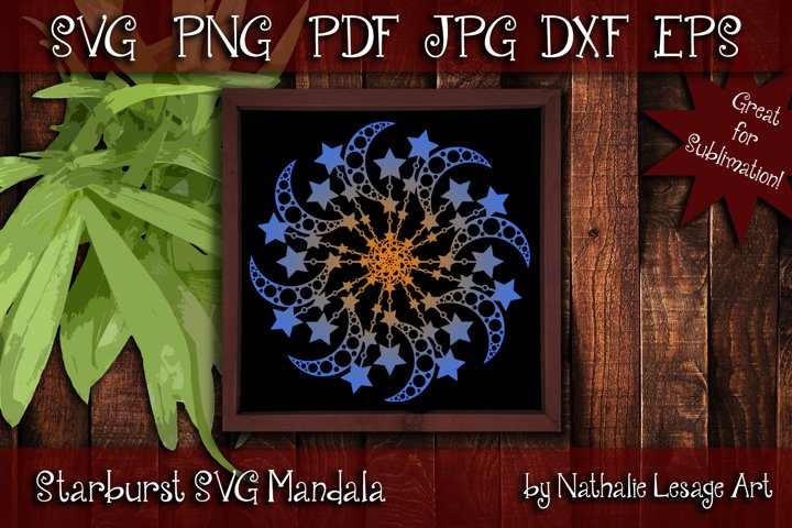 Starburst SVG Mandala Design For Sublimation And Weeding