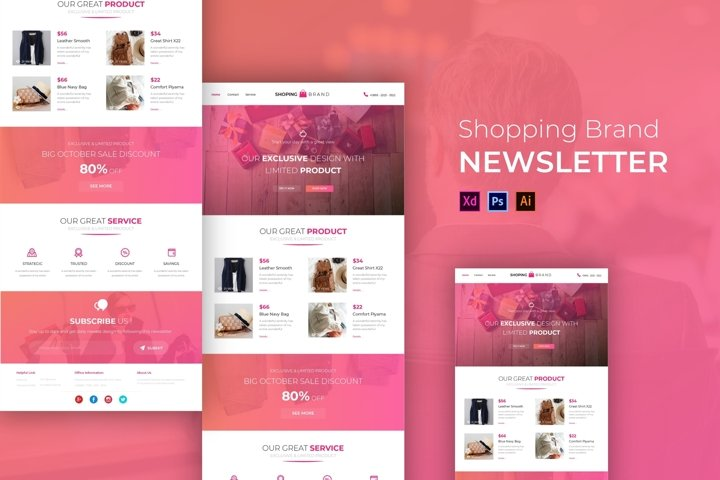 ShoppingBrand | Email Newsletter Template