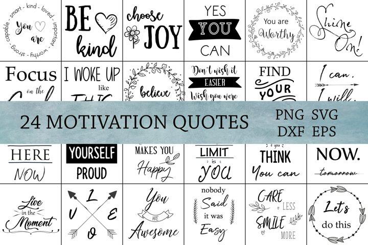 Motivational SVG Bundle, Cut Files