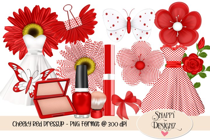 Cheeky Red Dress Up Scrap Kit