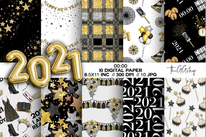 New Years Eve Party Digital papers
