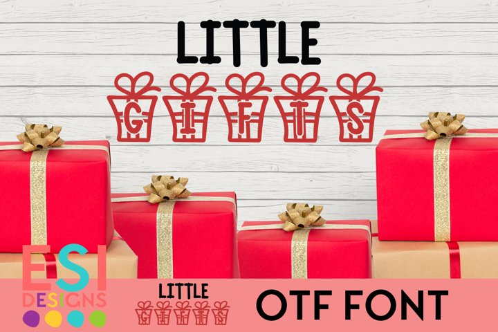 Little Gifts Christmas Font