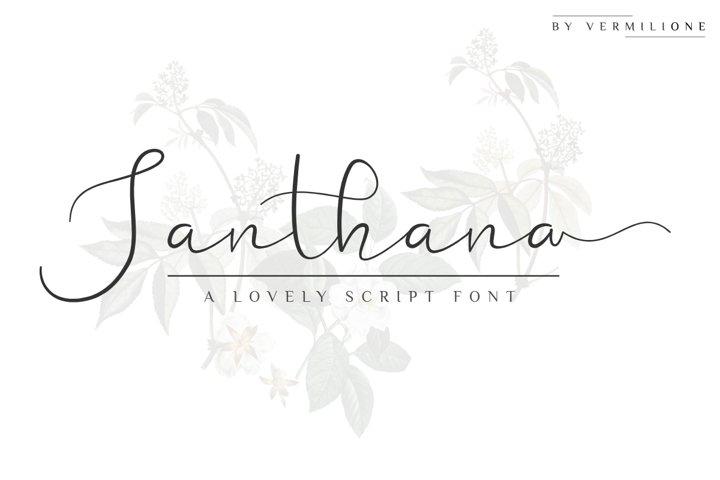 Santhana Lovely Script Font