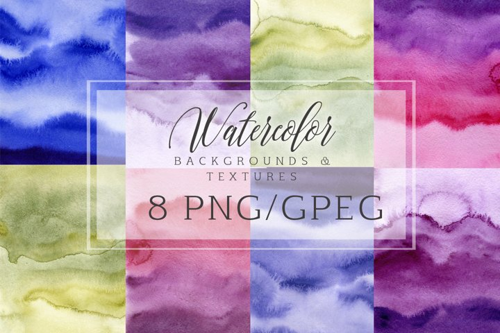 Watercolor digital paper clipart Watercolor abstract backgrounds, textures, washes Scrapbook paper, Ultra Viole, Purple, Card design