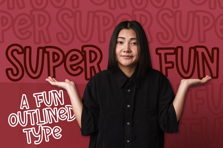 Super Fun - A Fun Outline Font