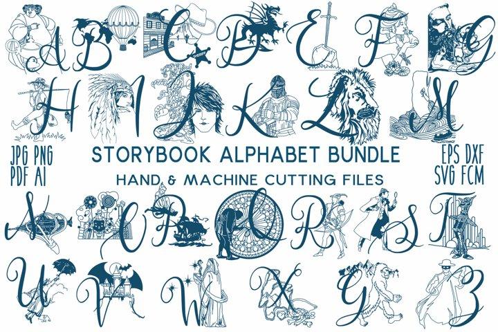 Storybook Alphabet Cut File Bundle jpg/png/pdf/svg/fcm