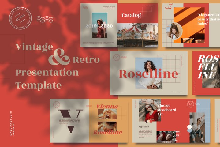 Roselline - Vintage Retro Powerpoint