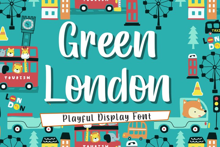 Green London | A Playful handwritten Font